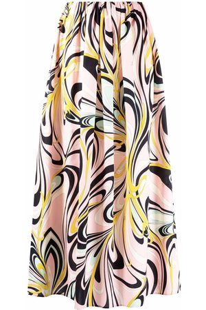 Emilio Pucci Women Printed Skirts - Graphic-print high-waisted skirt