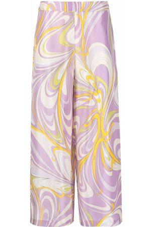 Emilio Pucci Women Wide Leg Pants - Onde-print wide-leg trousers
