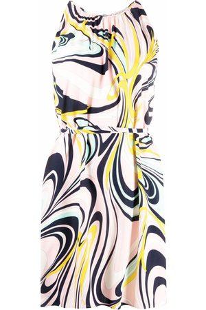 Emilio Pucci Women Printed Dresses - Onde-print tie-waist dress