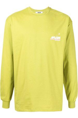 Msgm Men Long Sleeve - Logo-print longsleeved top