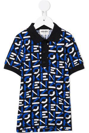 Kenzo Boys Polo Shirts - Logo-print short-sleeved polo shirt