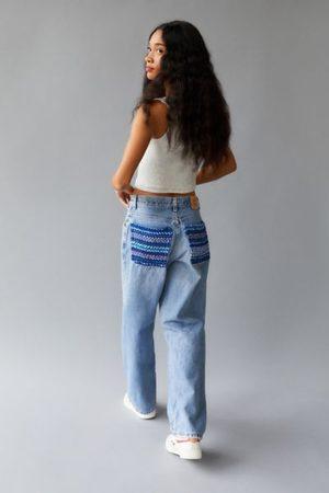 Urban Women Jeans - Recycled Yarn Dye Back Pocket Patch Jean