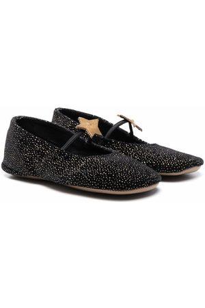 PèPè Girls Ballerinas - Star-detail glittered ballerina shoes