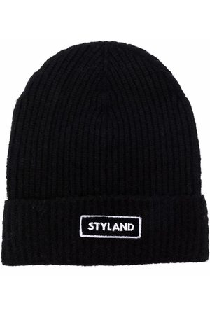Styland Beanies - Logo patch ribbed beanie