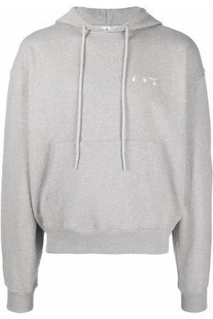 OFF-WHITE Men Hoodies - Arrow logo hoodie - Grey