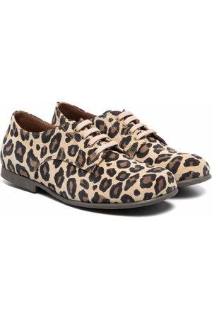 PèPè Girls Ballerinas - Leopard-print suede ballerinas - Neutrals