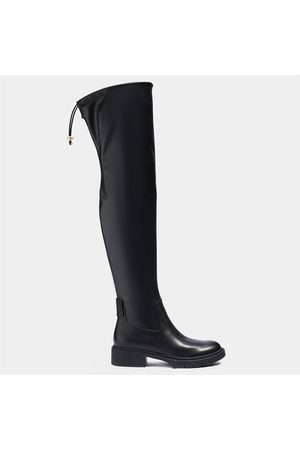 Coach Women Thigh High Boots - Women's Lizzie Leather Over The Knee Boots