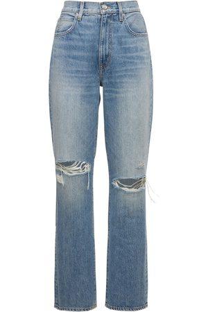SLVRLAKE London High Rise Distressed Jeans
