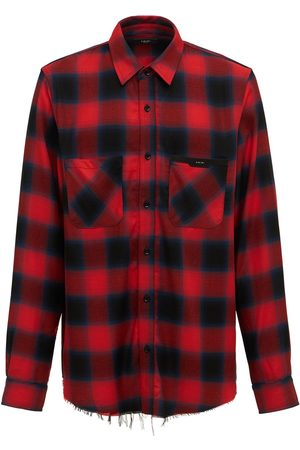 AMIRI Men Casual - Logo Check Viscose Flannel Shirt