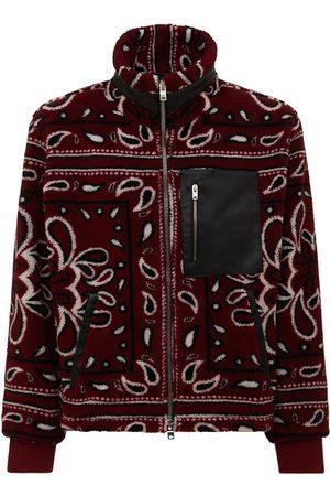 AMIRI Men Fleece Jackets - Printed Bandana Polar Fleece Jacket
