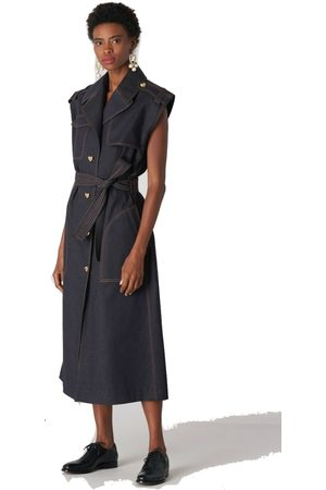 Carolina Herrera Stretch Denim Trench Dress
