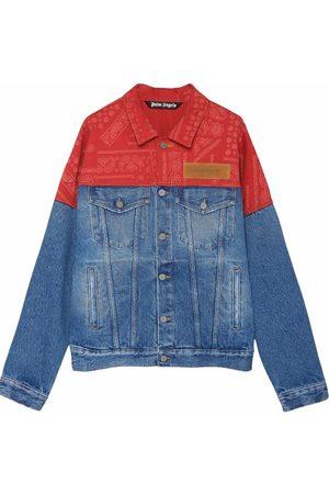 Palm Angels Bandana Patchwork Denim Jacket