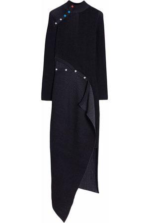 OFF-WHITE Ribbed-Knit Asymmetric Dress