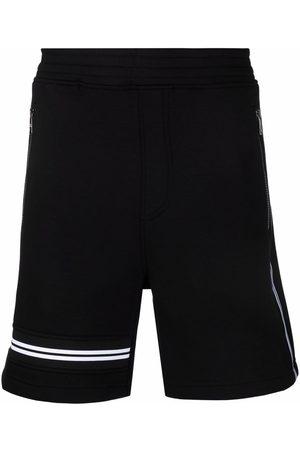 Neil Barrett Men Sports Shorts - Stripe-detail track shorts