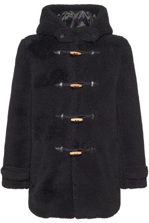 Saint Laurent Men Fleece Jackets - Hooded Wool Fleece & Silk Jacket