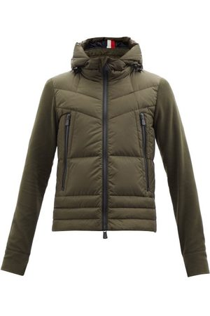 Moncler Hooded Quilted Down And Fleece Jacket - Mens - Green