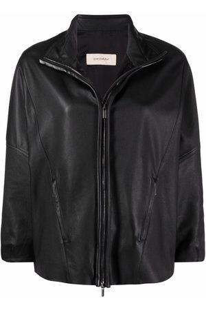 GENTRYPORTOFINO Women Leather Jackets - High neck leather jacket