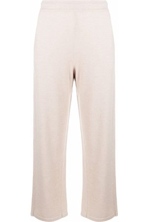 GENTRYPORTOFINO Elasticated straight-leg trousers - Neutrals