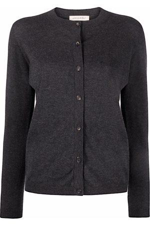 GENTRYPORTOFINO Fine-knit ribbed-trim cardigan - Grey