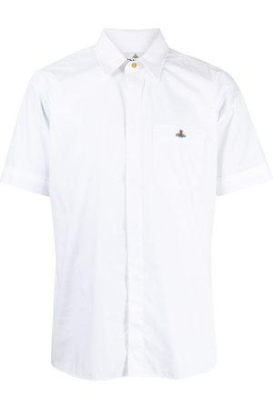 Vivienne Westwood Men Short sleeves - Orb logo-embroidered short-sleeve shirt