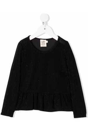 Caffe' D'orzo Girls Blouses - Edda metallic-threaded blouse