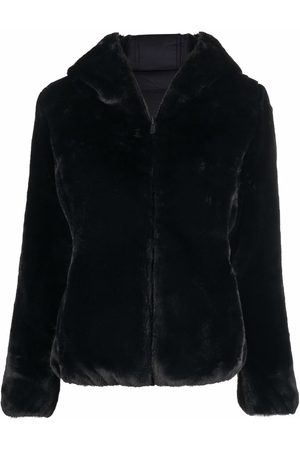 save the duck Women Jackets - Hooded faux-fur jacket
