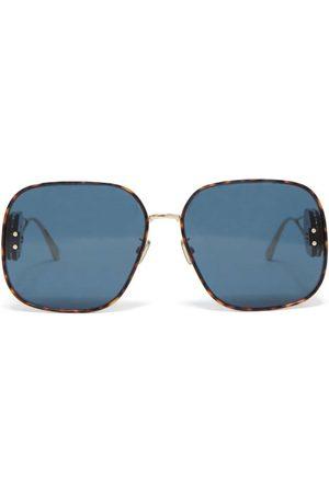 Dior Bobby R2u Square Metal Sunglasses - Womens