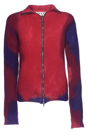Marni Zippered gilet with bleached effect