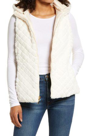 Gallery Faux Fur Reversible Hooded Vest