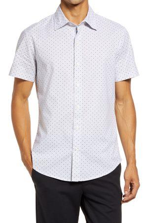 BONOBOS Riviera Slim Fit Dot Short Sleeve Stretch Cotton Shirt