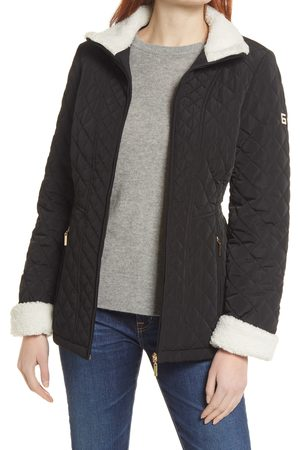 Gallery Quilted Jacket with Faux Shearling Trim