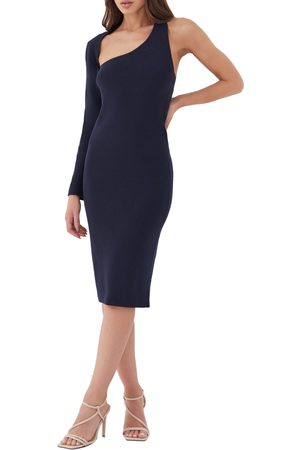 4th & Reckless Alix Asymmetrical Long Sleeve Dress