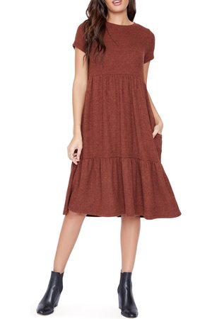 Lost + Wander From the Heart Tiered Ruffle Knit Dress