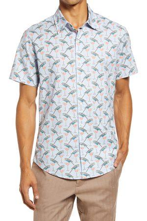 BONOBOS Riviera Short Sleeve Stretch Cotton Button-Up Shirt