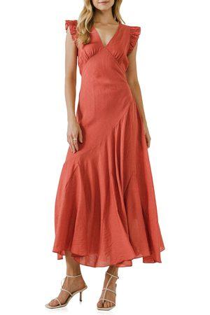 Endless Rose Asymmetrical Ruffle Dress