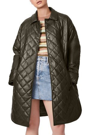 BERNIE Quilted Faux Leather Jacket