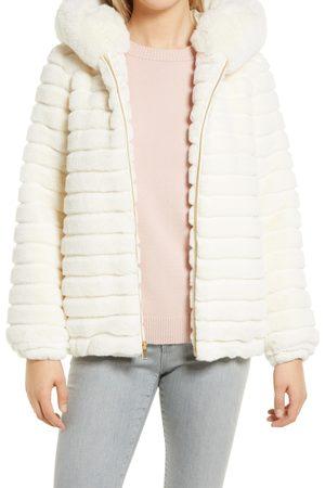 Gallery Hooded Faux Fur Jacket