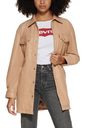 Levi's Faux Leather Belted Shirt Jacket