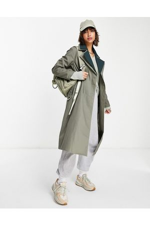 Fashion Union Oversized trench coat with double contrast collar