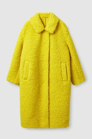 COS Women Fleece Jackets - WOOL TEDDY COAT