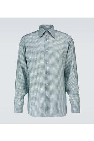 Tom Ford Long-sleeved polka-dot shirt