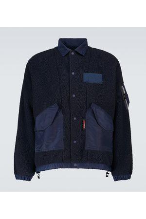 Comme des Garçons Homme Boa fleece and taffeta jacket