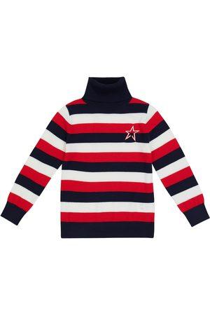 Perfect Moment Striped intarsia wool turtleneck sweater