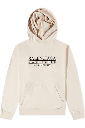 Balenciaga Men Hoodies - Worldwide Logo Popover Hoody