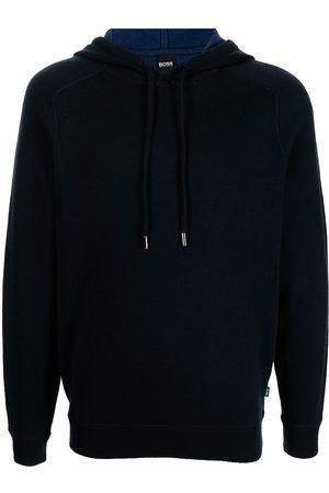 HUGO BOSS Men Hoodies - Wool-cotton blend hoodie