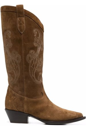 ETRO Western embroidered boots