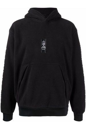 Moncler Men Hoodies - Slogan-patch fleece hoodie