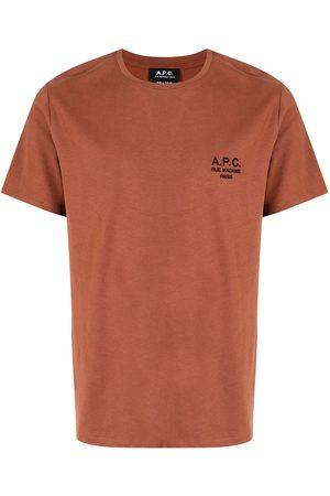 A.P.C. Men Short Sleeve - Logo-print short-sleeved T-shirt
