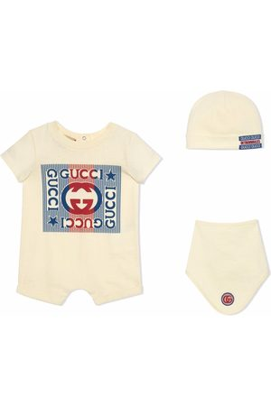 Gucci Bodysuits & All-In-Ones - Gucci logo cotton gift set