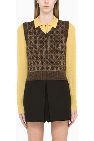 Saint Laurent Brown waistcoat pullover